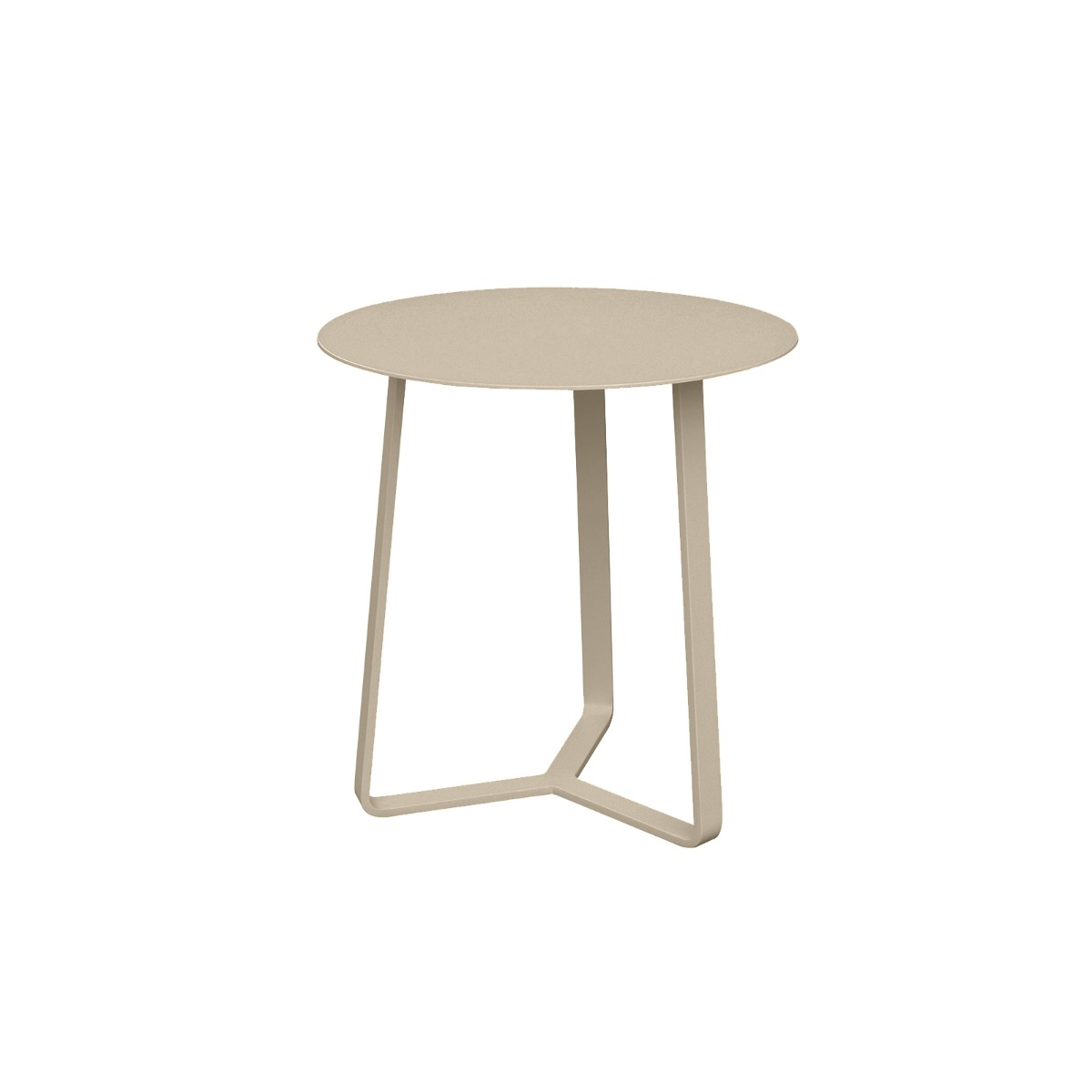 Apollo Aluminium Large Side Table in Light Taupe