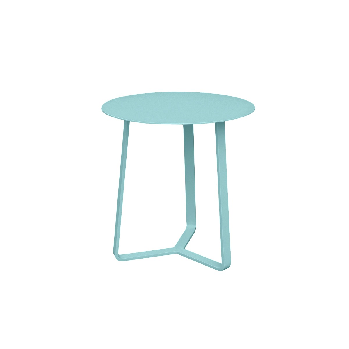 Apollo Aluminium Large Side Table in Teal Blue