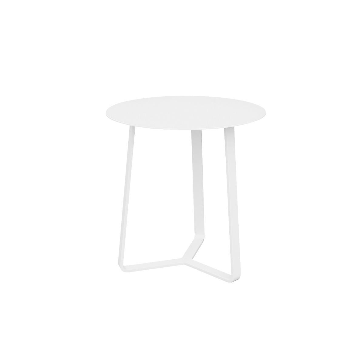 Apollo Aluminium Large Side Table in White