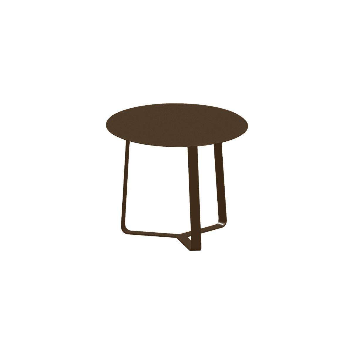 Apollo Aluminium Side Table in Coffee