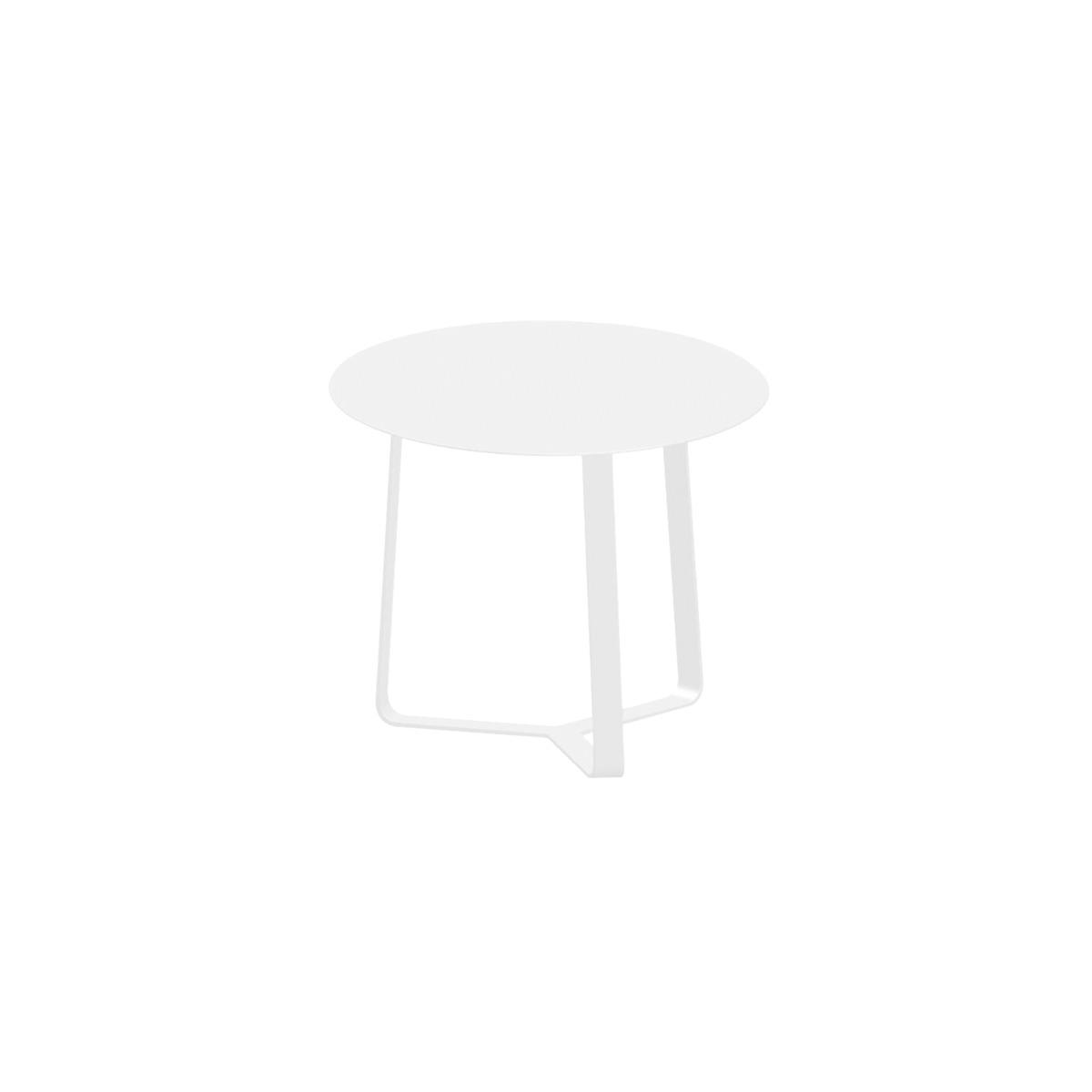 Apollo Aluminium Side Table in White