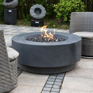 Ross HPC Concrete Round Fire Table in Classic Grey