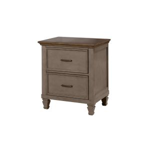 Joslyn Nightstand in Gunmetal Grey