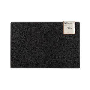 Plain Medium Doormat in Black