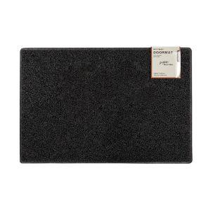 Plain Large Doormat in Black