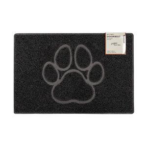 Paw Large Embossed Doormat in Black