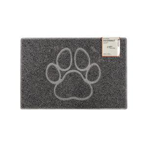 Paw Small Embossed Doormat in Grey
