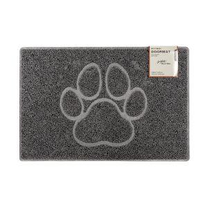 Paw Large Embossed Doormat in Grey