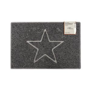 Star Medium Embossed Doormat in Grey