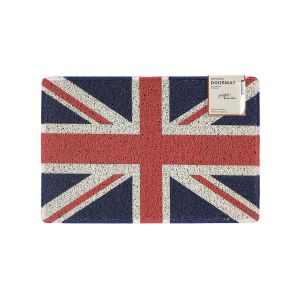 Union Jack Small Printed Doormat with Rubber Back