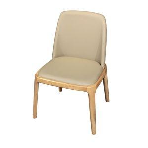 Malton Oak & Faux Leather Dining Chair (Set of 2) in Khaki