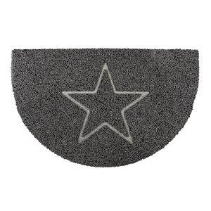 Star Half Moon Doormat in Grey