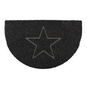 Star Half Moon Doormat in Black
