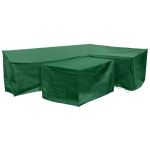 Fiji Right-Side L Shape Dining Cover Set in Green