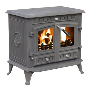 12kW Cast Iron Wood and Charcoal Burning Stove