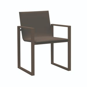 Fermo Aluminium & Textilene Dining Chair in Coffee with Coffee Sling