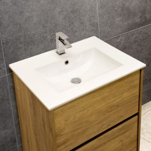 Thin-Edge 4001A Ceramic 61cm Inset Basin with Scooped Bowl