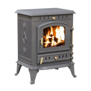 8kW Cast Iron Wood and Charcoal Burning Stove