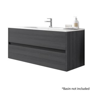 Alba 120cm 2 Drawer Basin Unit in Grey Oak