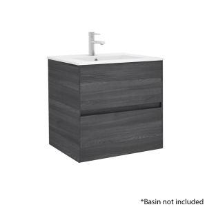 Alba 60cm 2 Drawer Basin Unit in Grey Oak