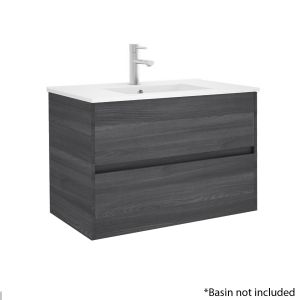 Alba 80cm 2 Drawer Basin Unit in Grey Oak