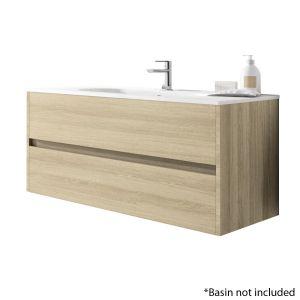 Alba 120cm 2 Drawer Basin Unit in European Oak