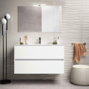 Alba 100cm Basin Set - 100cm Basin & 2 Drawer Basin Unit in Gloss White