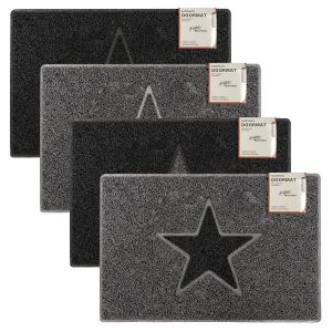 Star Embossed Doormat Various Colours Sizes