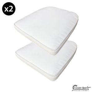 Panama Fabric Seat Pad (Set of 2) in Creamy White