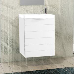 Rafa 40cm Single Vanity Unit or Full Basin Set in White
