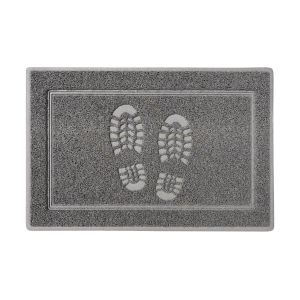 Footprints Large Sanitizing Doormat in Grey