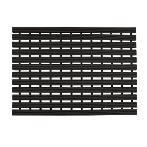 Non-Slip Slatted Shower Mat in Black