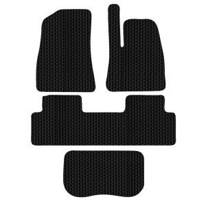Tesla Model 3 4-Piece HEX Car Mat Set in Black