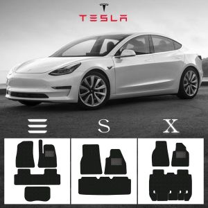Tesla Model 3 X S GECKO HEX Car Mat Sets Various