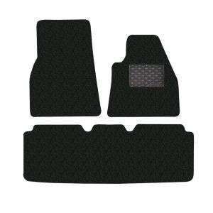 Tesla Model S 3-Piece GECKO Car Mat Set in Black