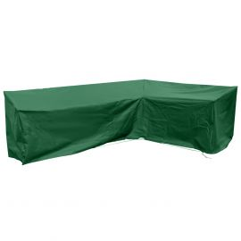 Large Right-Hand L Shape Sofa Cover in Green