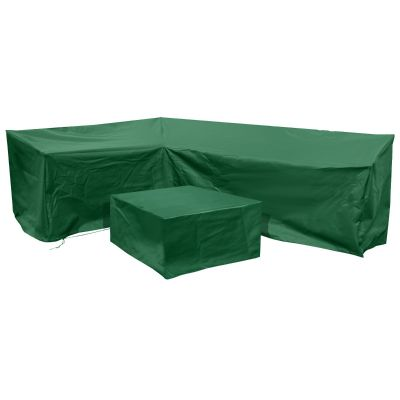 Barbados Left-Side L Shape Lounge Cover Set in Green