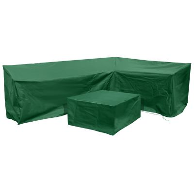 Barbados Right-Side L Shape Lounge Cover Set in Green