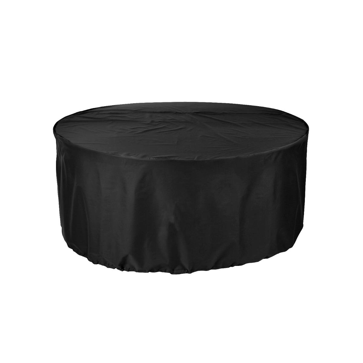 Black Premium 6-8 Seater Extra Large Circular Patio Set Cover
