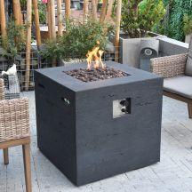 Ellington GFR Concrete Square Fire Table in Black Lava
