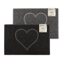 Heart Embossed Doormat Various Colours Sizes