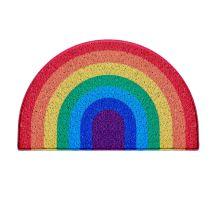 Rainbow Medium Half Moon Doormat