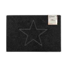 Star Large Embossed Doormat in Black