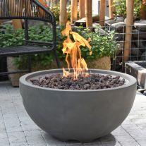 Nantucket GFR Concrete Round Fire Bowl in Dark Grey