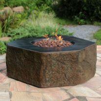 Columbia HPC Concrete Hexagon Fire Table in Basalt Brown
