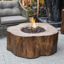 Manchester HPC Concrete Round Fire Table in Redwood