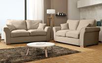 Hugo Fabric 5 Seat Sofa Set in Beige