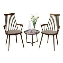 Royal Aluminium 2 Seater Tea for Two Set in Coffee with Khaki Cushions & Apollo Table