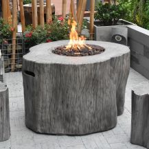 Warren HPC Concrete Round Fire Table in Classic Grey