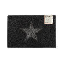 Star Medium Doormat in Black with Grey Star